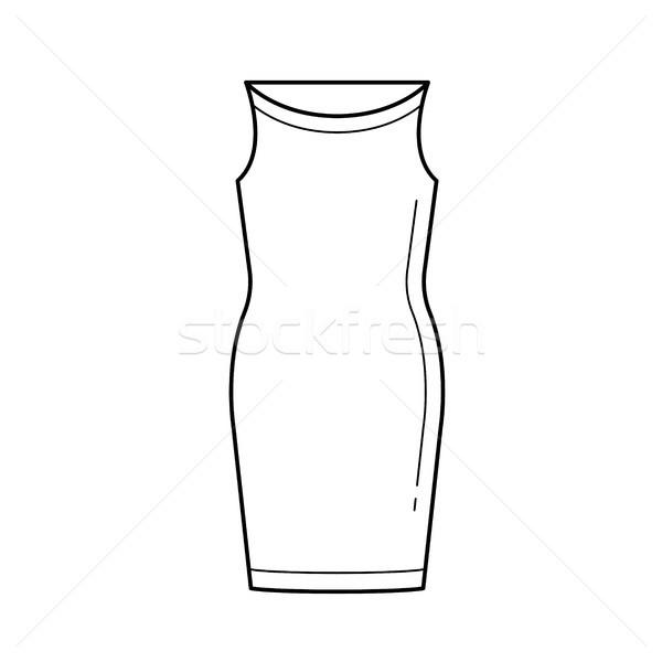 Corsage dress vector line icon. Stock photo © RAStudio