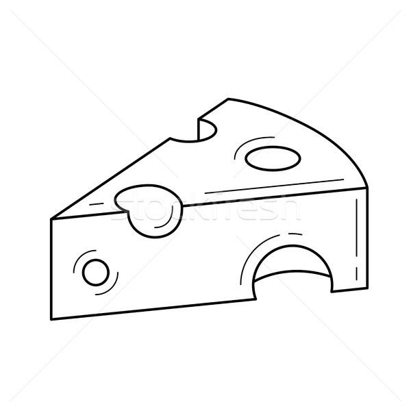 Adag sajt vektor vonal ikon izolált Stock fotó © RAStudio