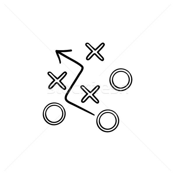 Strategie plan schets doodle icon Stockfoto © RAStudio