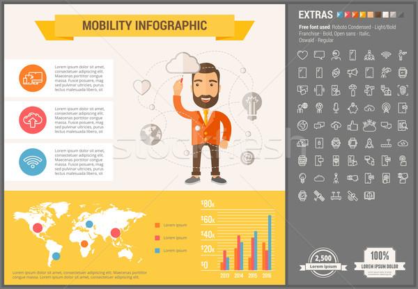 Mobilité design modèle illustrations Photo stock © RAStudio