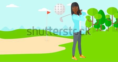 Golf player man. Stock photo © RAStudio