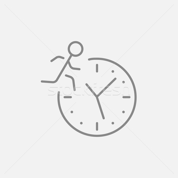 Time management line icon. Stock photo © RAStudio