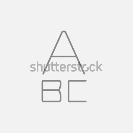 Stockfoto: Brieven · geschilderd · lijn · icon · web · mobiele