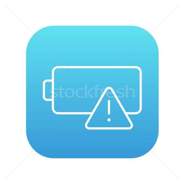 Vazio bateria linha ícone teia móvel Foto stock © RAStudio