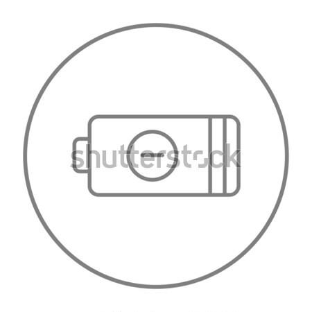 Low power battery line icon. Stock photo © RAStudio