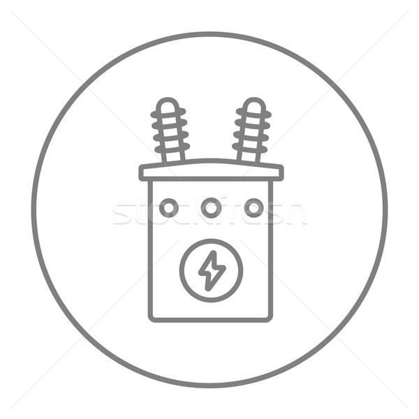 Transformatör hat ikon web hareketli Stok fotoğraf © RAStudio