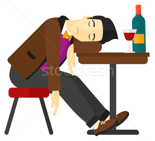 Man sleeping in bar.  Stock photo © RAStudio
