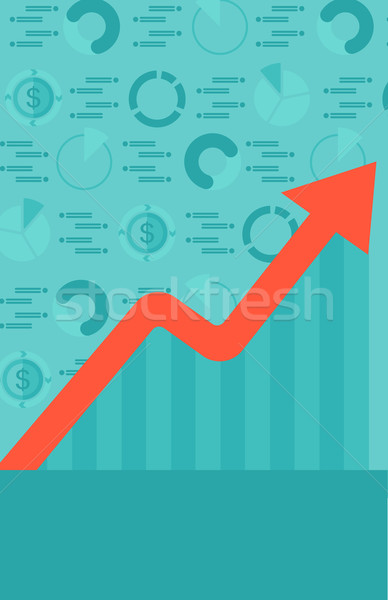 Background of graph with rising up arrow and dollar symbols. Stock photo © RAStudio