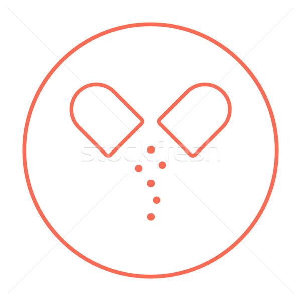 капсула таблетки линия икона веб мобильных Сток-фото © RAStudio