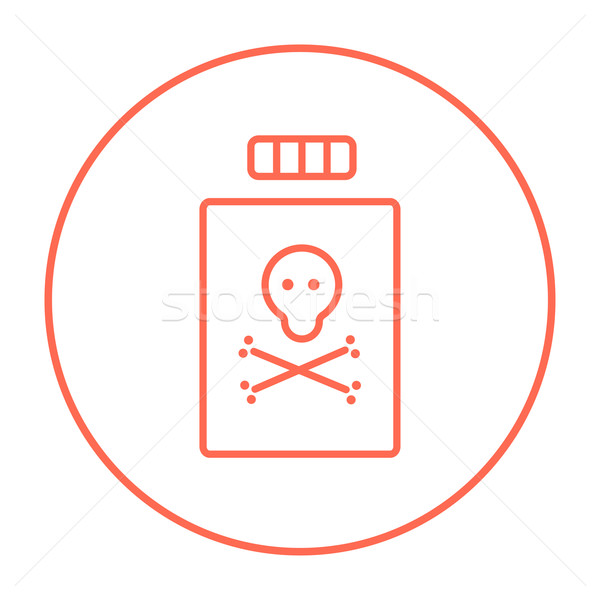 Bottle of poison line icon. Stock photo © RAStudio