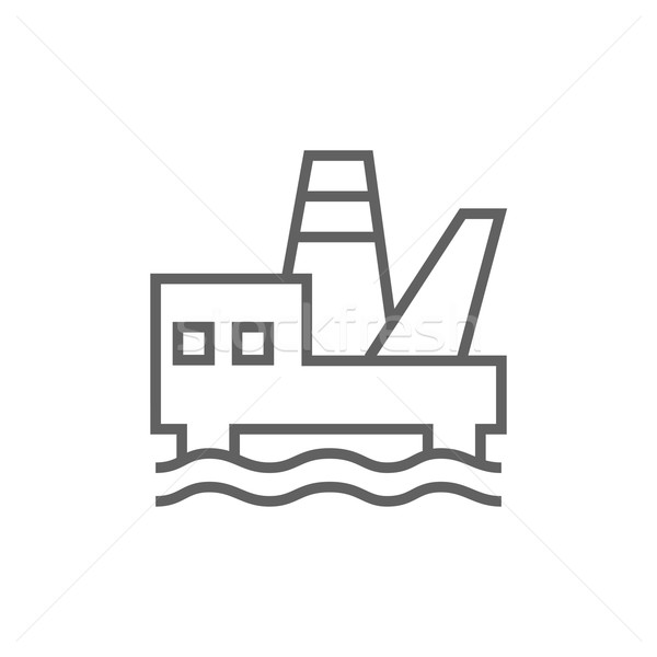 Offshore olaj vágány vonal ikon sarkok Stock fotó © RAStudio