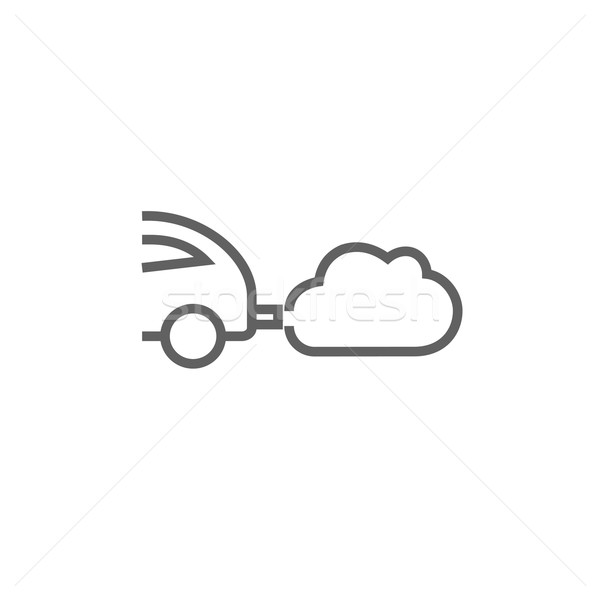 Car spewing polluting exhaust line icon. Stock photo © RAStudio