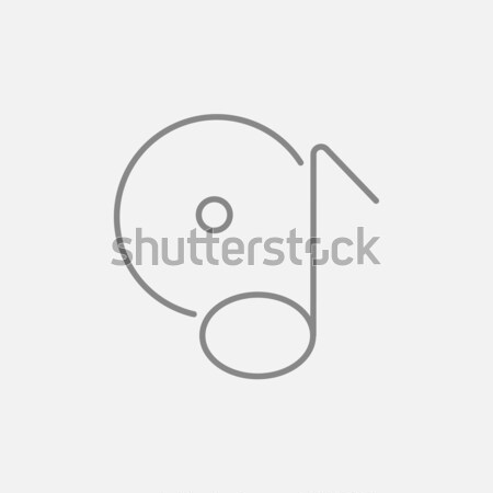 сведению диск линия икона веб мобильных Сток-фото © RAStudio