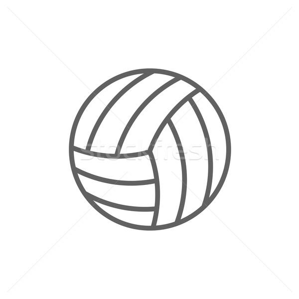 Siatkówka piłka line ikona internetowych komórkowych Zdjęcia stock © RAStudio