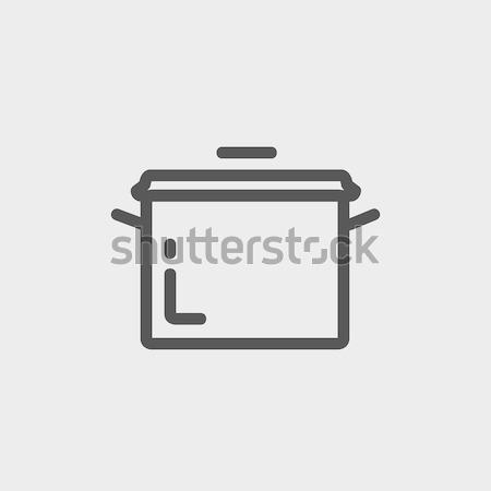 Rondel line ikona internetowych komórkowych Zdjęcia stock © RAStudio