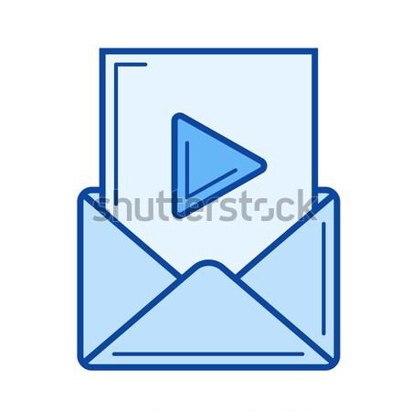 Audio file line icon. Stock photo © RAStudio