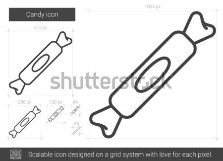 Candy sketch icon. Stock photo © RAStudio