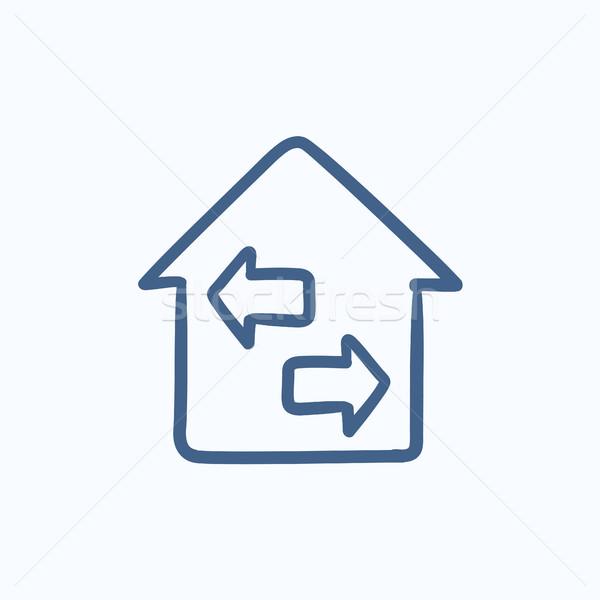 Property resale sketch icon. Stock photo © RAStudio
