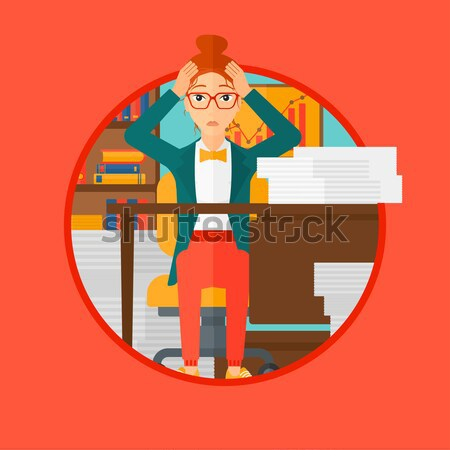 Despair woman espair sitting in office. Stock photo © RAStudio