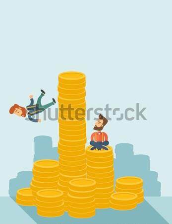 2 ビジネスマン 幸せ 座って 先頭 ストックフォト © RAStudio