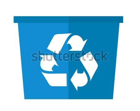 商业照片: 蓝色 · 可以 · 回收 · 符号 · 现代的