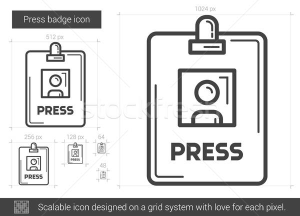 Press badge line icon. Stock photo © RAStudio