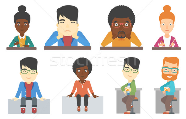 Vector set of bar customer and business characters Stock photo © RAStudio