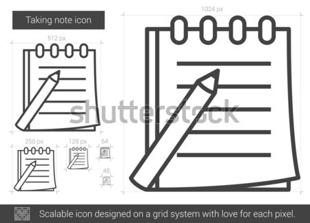 Taking note line icon. Stock photo © RAStudio