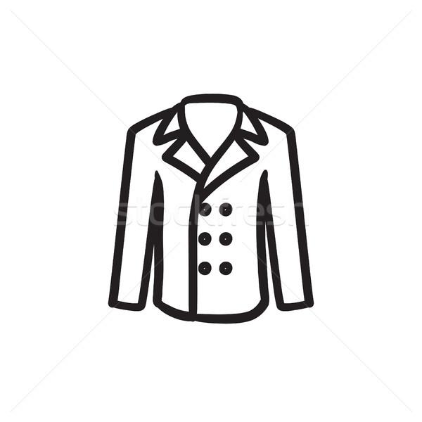 Male coat sketch icon. Stock photo © RAStudio