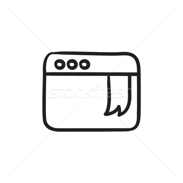 Browser window with bookmark sketch icon. Stock photo © RAStudio