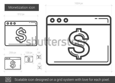 Petroleum vat lijn icon vector geïsoleerd Stockfoto © RAStudio