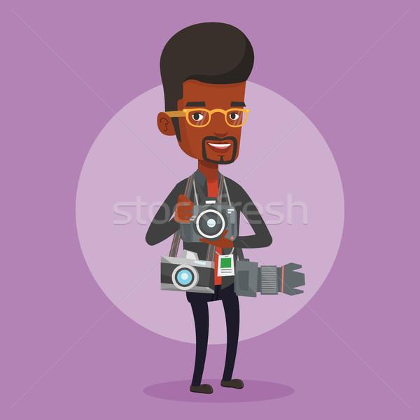 カメラマン 写真 小さな 男性 多くの ストックフォト © RAStudio