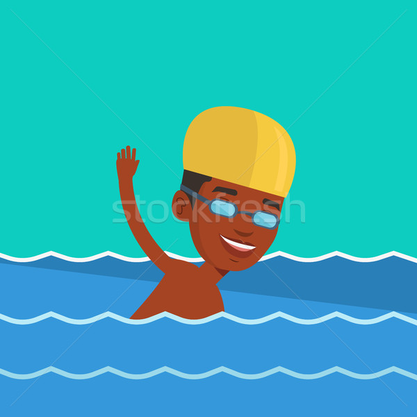 Man swimming vector illustration. Stock photo © RAStudio