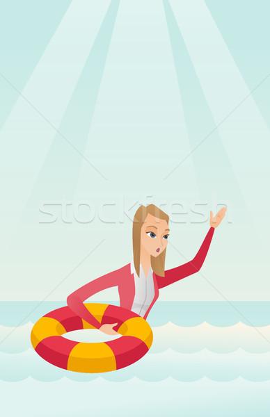 Femme d'affaires aider Photo stock © RAStudio