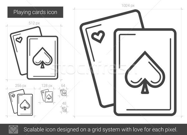 Carte da gioco line icona vettore isolato bianco Foto d'archivio © RAStudio