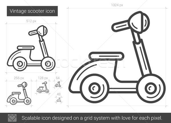 Vintage scooter line icon. Stock photo © RAStudio