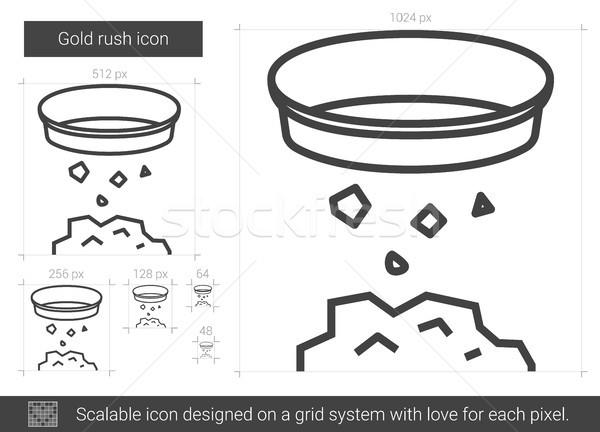 Goud haast lijn icon vector geïsoleerd Stockfoto © RAStudio