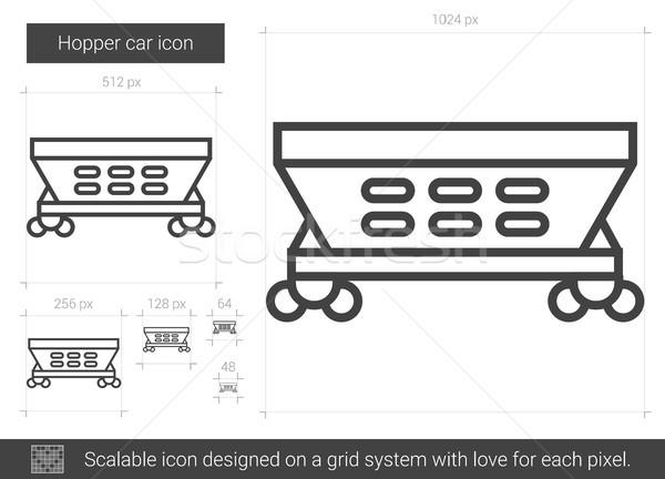Hopper car line icon. Stock photo © RAStudio