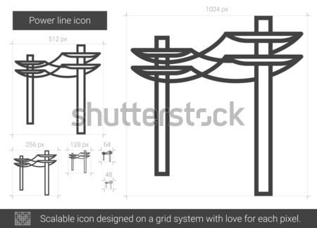 Power line icon. Stock photo © RAStudio