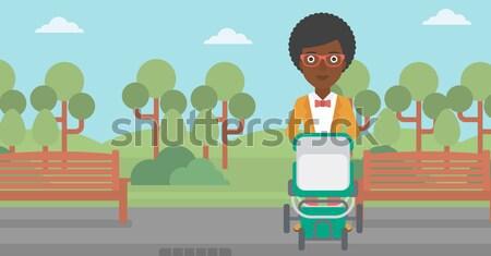 Woman riding on electric scooter. Stock photo © RAStudio