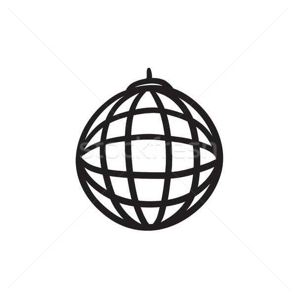 Disco ball sketch icon. Stock photo © RAStudio
