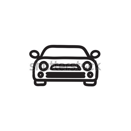 Car sketch icon. Stock photo © RAStudio