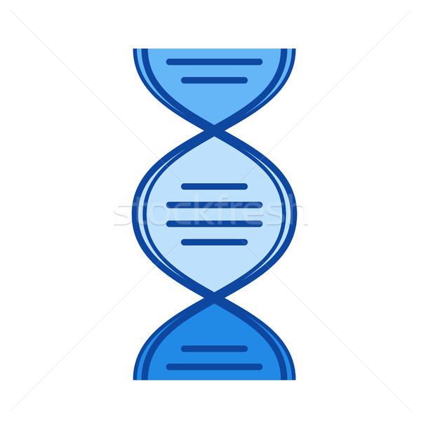 Biologie line Symbol Vektor isoliert weiß Stock foto © RAStudio