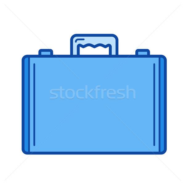 Aktatáska vonal ikon vektor izolált fehér Stock fotó © RAStudio