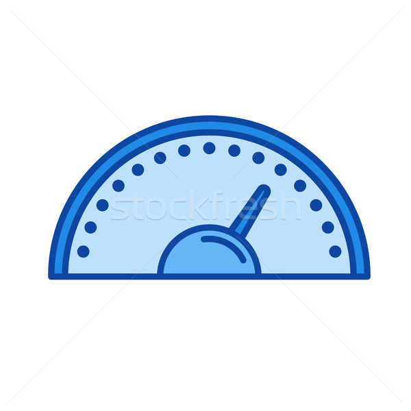 Velocímetro linha ícone vetor isolado branco Foto stock © RAStudio
