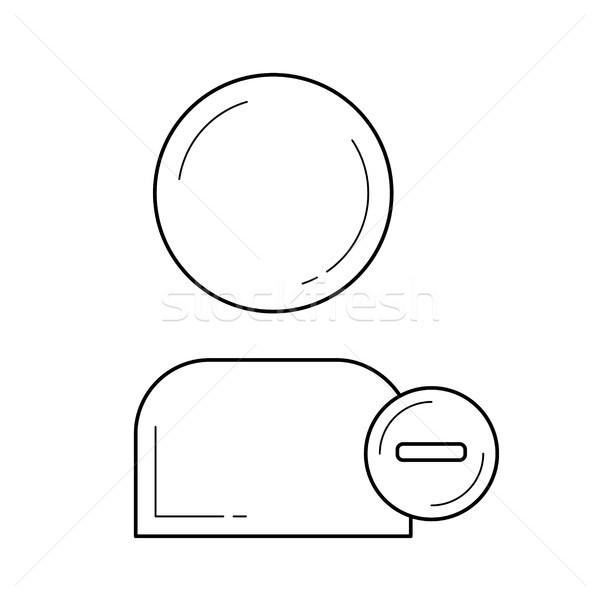 Utente line icona vettore isolato bianco Foto d'archivio © RAStudio