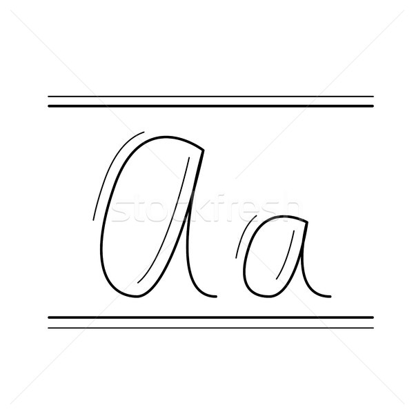 Handwriting vector line icon. Stock photo © RAStudio