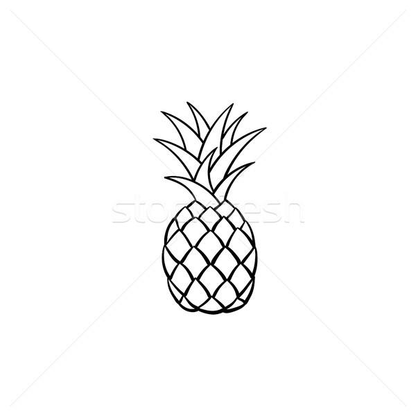 Ananas schets icon schets doodle Stockfoto © RAStudio