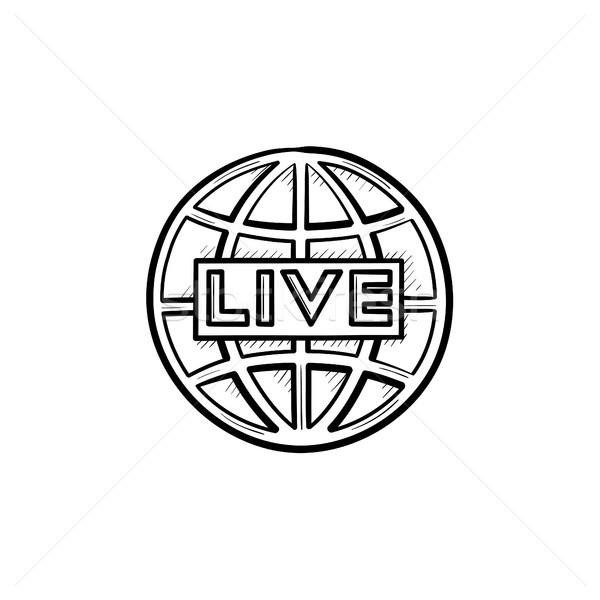 Yaşamak tv karalama ikon Stok fotoğraf © RAStudio
