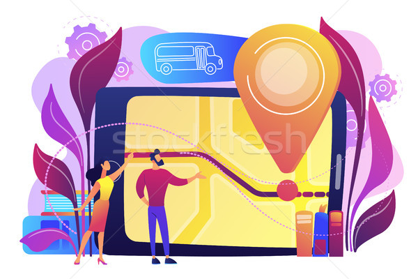 School bus tracking system concept vector illustration. Stock photo © RAStudio